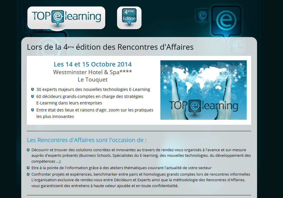 rencontres e learning